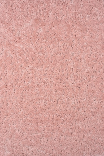 Ροζ Shaggy Χαλί Σαλονιού με Λαμπερά Νήματα