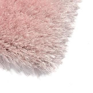Ροζ Shaggy Χαλί με Λάμψη για το Υπνοδωμάτιο