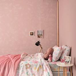 Ροζ Σεντόνια για Παιδικό Κρεβάτι