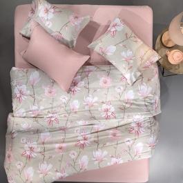 Λουλουδάτα Σεντόνια Guy Laroche Ashley Pink Υπέρδιπλα