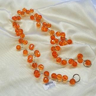 Δέστρα Κουρτίνας με Πορτοκαλί Χάντρες
