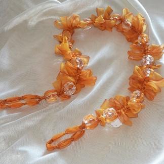 Πορτοκαλί Δέστρα με Χάντρες