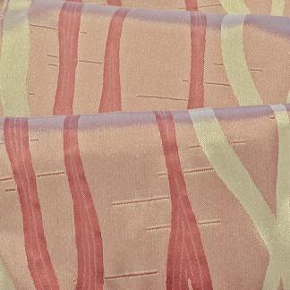 Ροζ Ριγέ Λαμπερός Ταφτάς για Κουρτίνες Lima - Pasxos