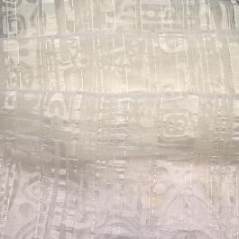 Εκρού Οργάντζα Κουρτίνας 6254