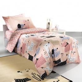Ροζ Βαμβακερά Σεντόνια Παιδικού Δωματίου - Saint Clair Doggy Pink
