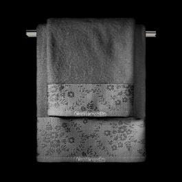 Ανθρακί Πετσέτες Μπάνιου με Floral Φάσα Guy Laroche Flotte Anthracite