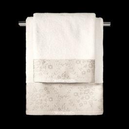 Βαμβακερές Πετσέτες με Φάσα Guy Laroche Flotte Ivory