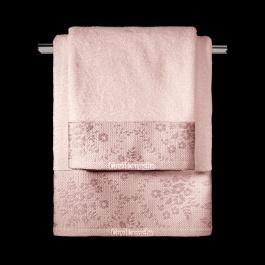 Ροζ Πετσέτες για το Μπάνιο - Σετ Τρία Τεμάχια, Σώματος - Προσώπου - Χεριών