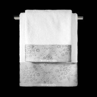 Λευκές Πετσέτες Guy Laroche Με Κέντημα Flotte White