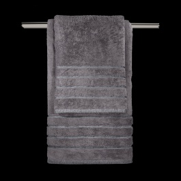 Γκρι Σκούρες Πετσέτες Μπάνιου Guy Laroche - Mezzo Anthracite