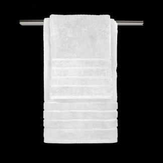 Λευκή επώνυμη πετσέτα από βαμβάκι - σετ τριών τεμαχίων - Guy Laroche Mezzo White