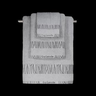 Γκρι Βαμβακερές Πετσέτες Μπάνιου Guy Laroche Premana Silver