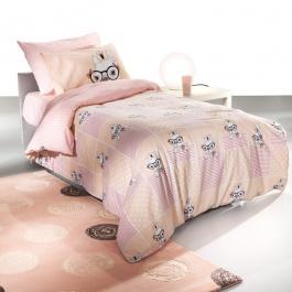 Ροζ Παιδικά Σεντόνάκια με Θέμα Σκυλάκια - Rosie Pinky Saint Clair