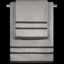 Γκρι Βαμβακερές Πετσέτες Guy Laroche Σετ Τριών Τεμαχίων σε Έκπτωση