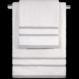 Άσπρες Βαμβακερές Πετσέτες Μπάνιου Guy Laroche Tuscany White - Έκπτωση 50%