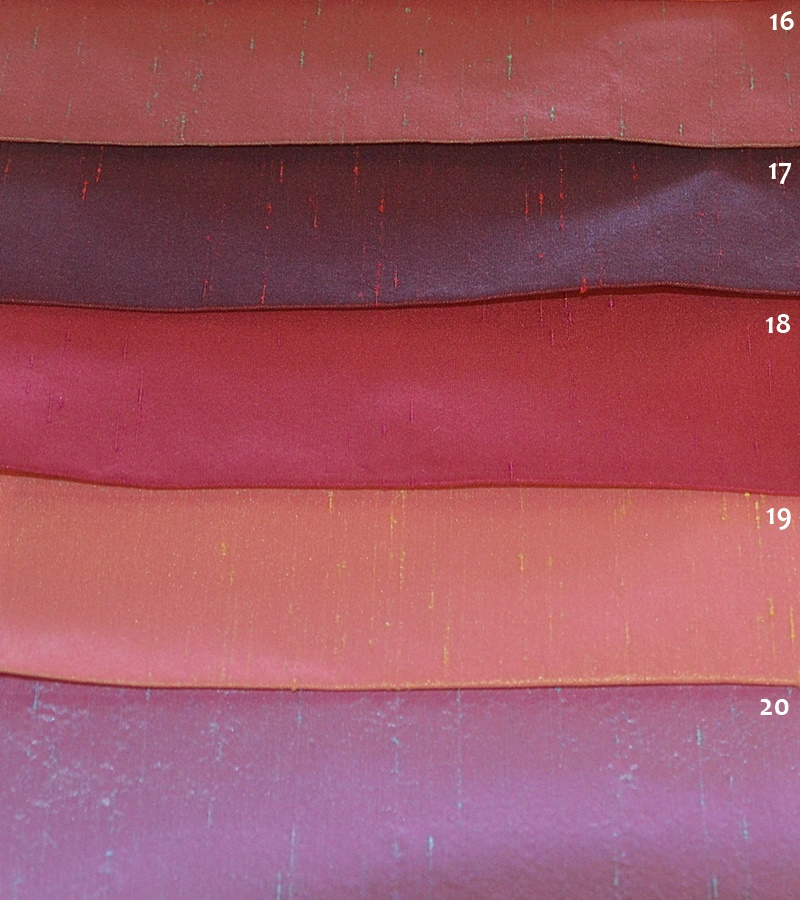 Αδιάφανο Ύφασμα Συνθετικό Μετάξι για Κουρτίνες και Ρόμαν σε Μωβ και Κόκκινα Χρώματα