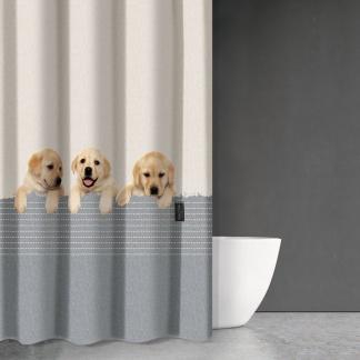 Κουρτίνα Μπάνιου με Σκυλάκια - Baby Labrador - Saint Clair Animals 204