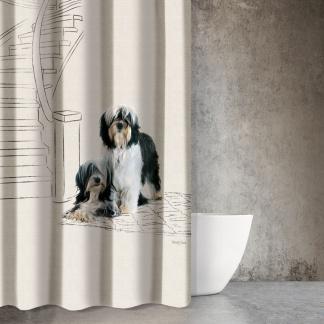 Μοντέρνα Κουρτίνα Μπάνιου με Σκυλάκια Saint Clair Animals Des 207