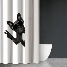 Υφασμάτινη Κουρτίνα Μπάνιου Saint Clair Funny Des 504 - Γαλλικό Μπουλντόγκ