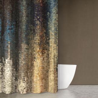 Μοντέρνα Κουρτίνα Για το Μπάνιο Abstract Des101- Saint Clair