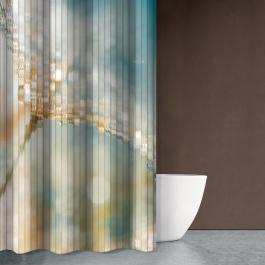Μοντέρνα Κουρτίνα Μπάνιου με Θαλασσινό Θέμα σε Γαλαζοπράσινα Χρώματα - Saint Clair Seawater Des609