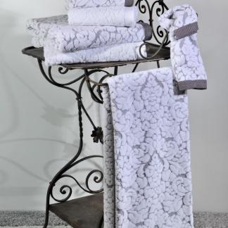 Σετ Πετσέτες Downtown Classic 650 Dark Grey - White