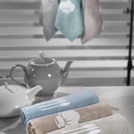 Απορροφητικές Πετσέτες Κουζίνας Set 3 Τεμάχια Gourmet Kitchen 3