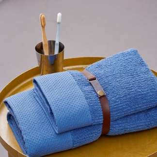Σετ Γαλάζιες Βαμβακερές Πετσέτες Palamaiki Chateau Blue
